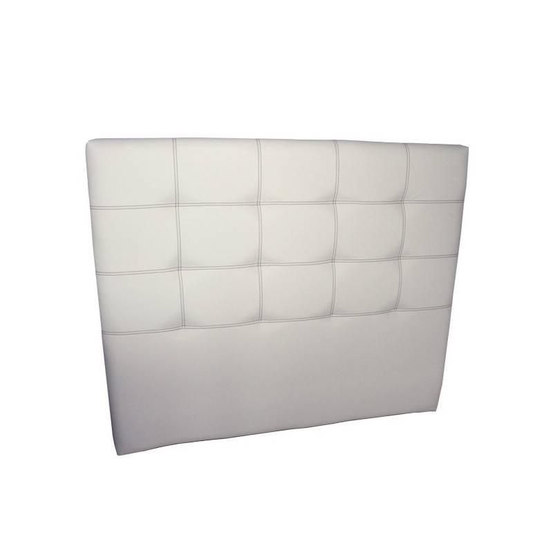 Cabecero Tablet Largo 151 x 125 cm Blanco con Costura Hilo Negro