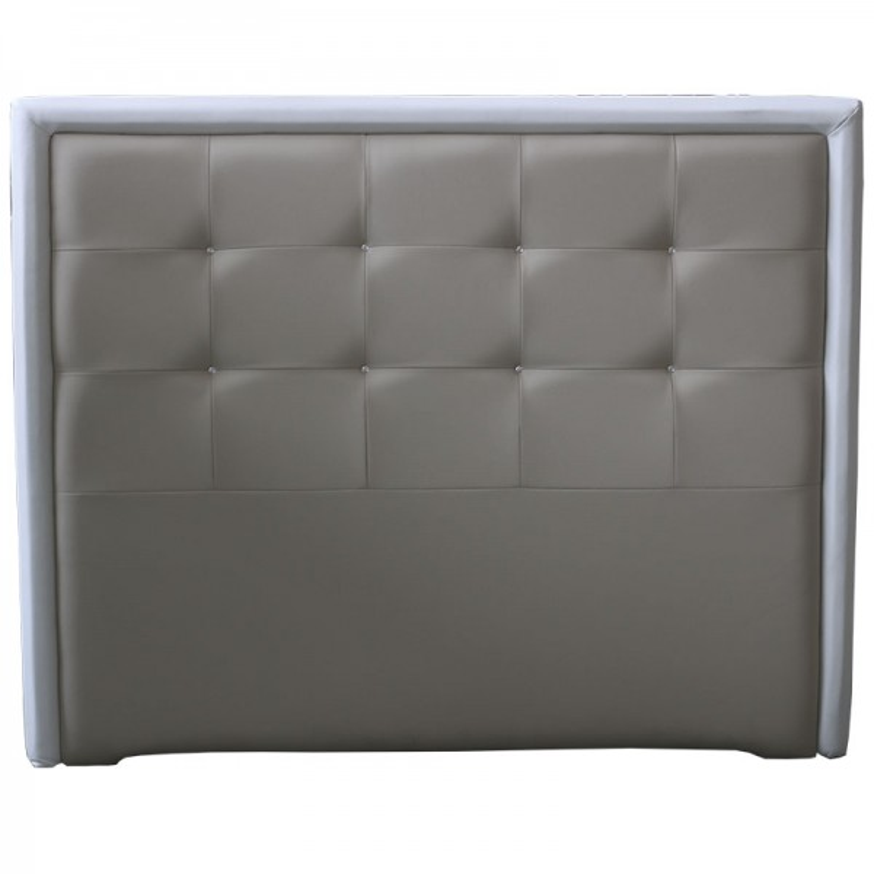 Cabecero Tablet Largo 166 x 132 cm Crudo con Marco Marron y cristales de Swarovski OFERTON