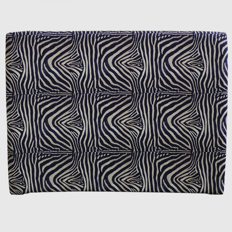 Cabecero Lisse Largo 166 x 125 cm Zebra Negro y Dorado OFERTON