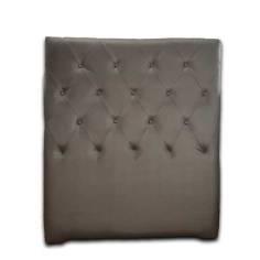 Cabecero DIAMOND en polipiel Plata 105x125 cm