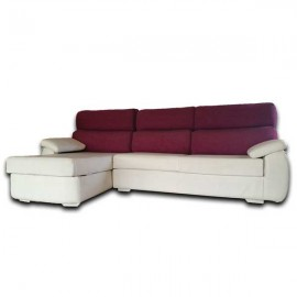 EXPOSICION Chaise Longue modelo NEVADA con arcon. 1,5+3 Plazas color Sparta Fucsia