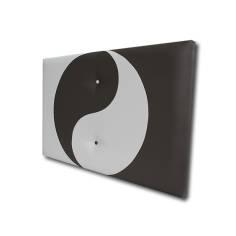 Cabecero Ying Yang 121 x 70 cm Blanco y Negro OFERTON