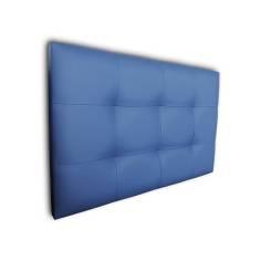 Cabecero Tablet 121 x 70 cm Azul con costura de hilo blanco OFERTON