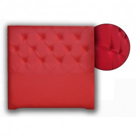 Cabecero Diamond Largo 170 x 125 cm Rojo con Botones Rojos OFERTON
