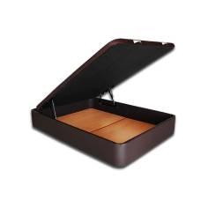 Canape Abatible Tapizado SERENA - Gran Capacidad de 150 x 190cm en Polipiel Wengué con tapa 3D OFERTON