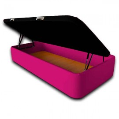 Canapé SERENA - Gran Capacidad 90 x 190 cm-Polipiel Fucsia-Tapa en 3D (+0 €)-