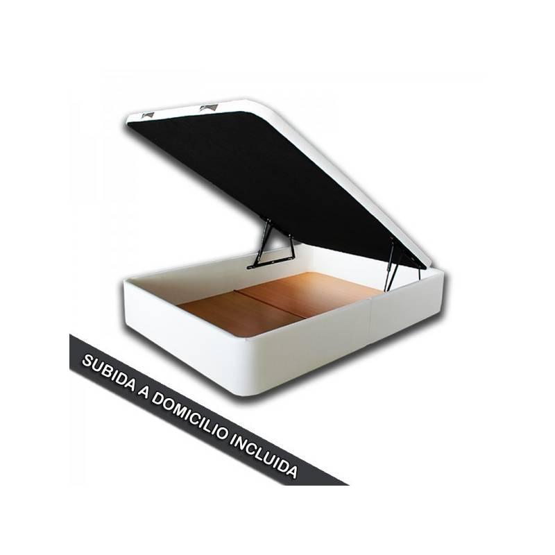 Canape Abatible Tapizado SERENA - Gran Capacidad de 150 x 190cm en Antimanchas Crudo tapa 3D OFERTON