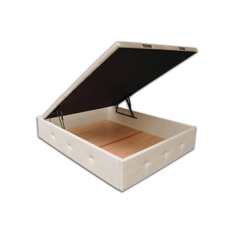 Canape Paris-Gran Capacidad 150 x 190 cm-Polipiel Blanco OFERTON