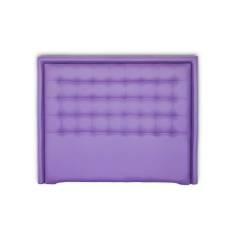 Cabecero Cube Largo con Marco Largo 166 x 132 cm Morado con Marco Morado