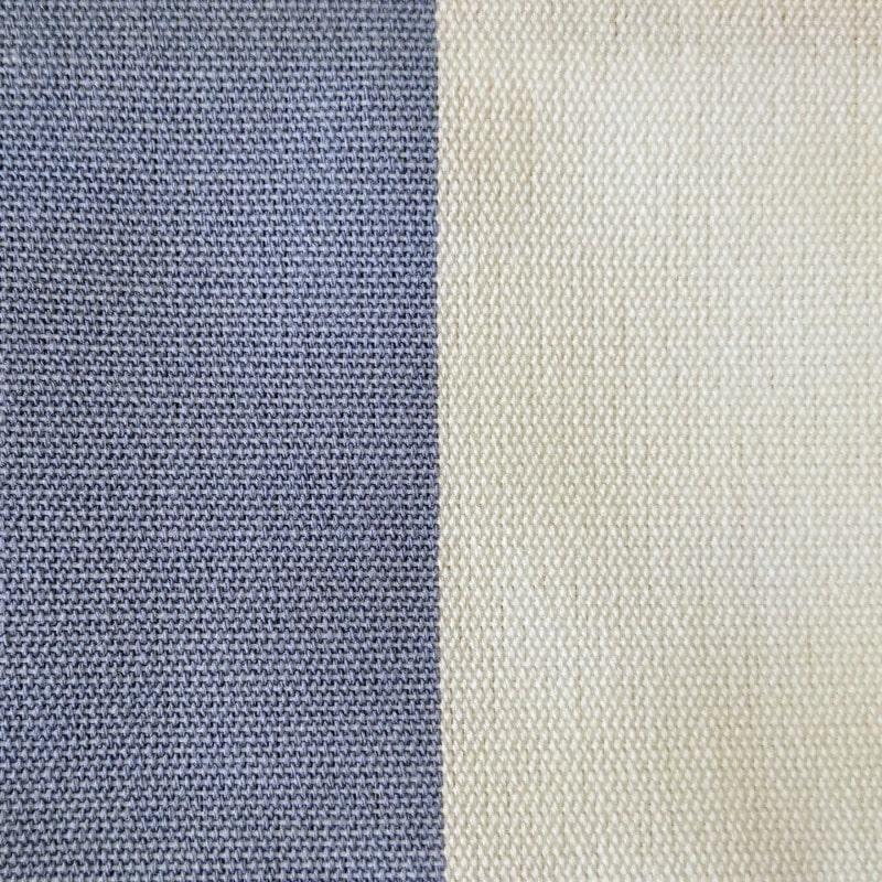 Loneta Exterior 100% Impermeable Azul y Blanco